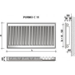 GRZ.PURMO C11 450X1600 1264W (COMPACT)