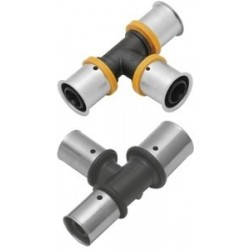 Trójnik KAN-therm PRESS PPSU z pierścieniem zaprasowywanym 25x25x25 równoprzelotowy