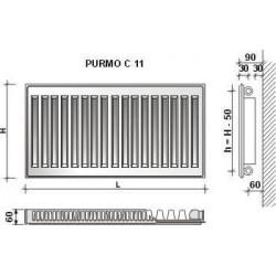 GRZ.PURMO C11 450X1100 869W (COMPACT)