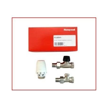 """Zestaw Honeywell: Głowica termostatyczna + Zawór term + odcinający PROSTY 1/2"""""""