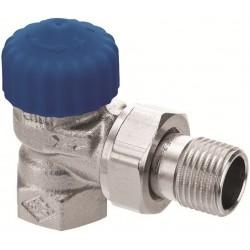 Zawór termostatyczny DN20 niklowany, kątowy