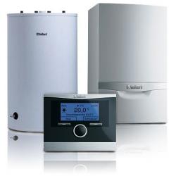 Pakiet systemowy nr 1 gazowy, 1F kocioł kondensacyjny VC ecoTEC plus z multiMATIC 700 z VIH R oraz komin.:VC 146+VIHR120+3elemen