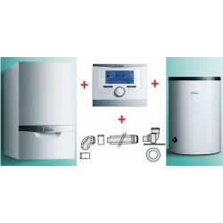 Vaillant ecoTEC VC Plus 206/5-5 + VIH R 120/6 B + multiMATIC 700/5 + zestaw do szachtu - (Pakiet 0010018066)